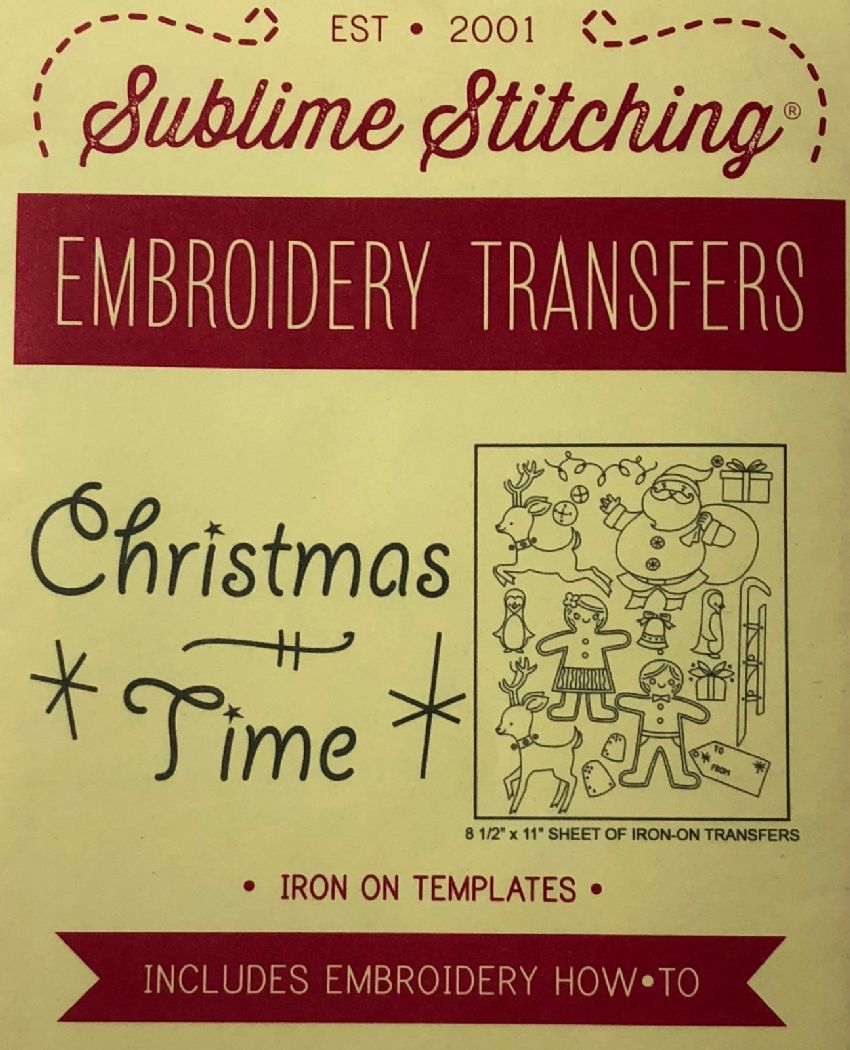 Sublime Stitching - Christmas Time Embroidery Transfers